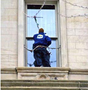 Window Cleaning Belt Work