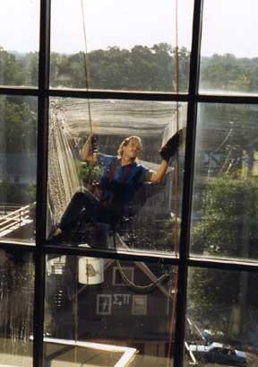 Rope Window Washer in East Lansing Michigan