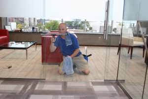 Interior Office Window Cleaning