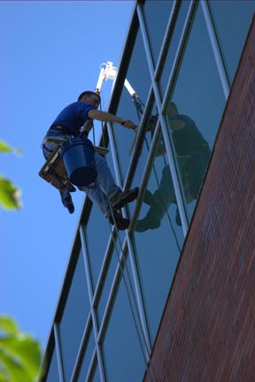 Michigan Office Building Commercial Window Cleaner