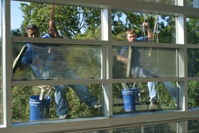 high-Rise Window Cleaning Crew